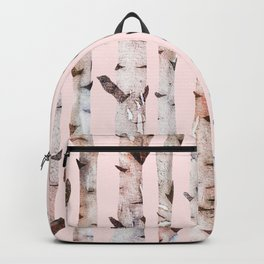 Birch Trees Pink Backpack