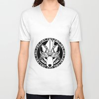 robin hood V-neck T-shirts featuring Foxin Hood by AdamAether