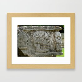Skull Wall - Chichen Itza, Mexico Framed Art Print