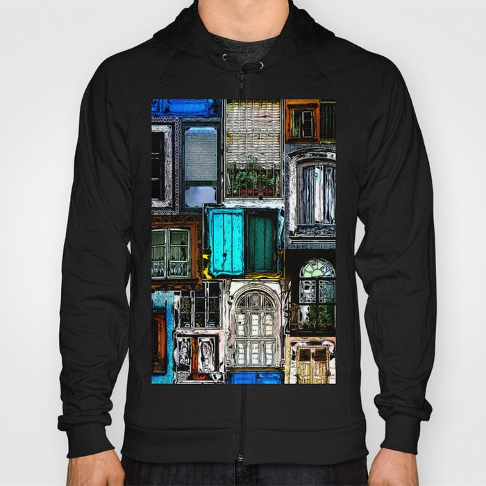 Textural Windows Collage Hoody