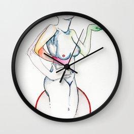 Martini, surreal female figure, NYC artist Wall Clock
