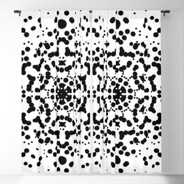 Rorschach Mandala Blackout Curtain