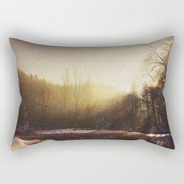Winter At the River Rectangular Pillow
