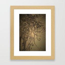 Pomegranate tree. Framed Art Print