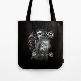 R U Mine? (Black BG) Tote Bag