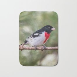 Rose-breasted Grosbeak Bath Mat