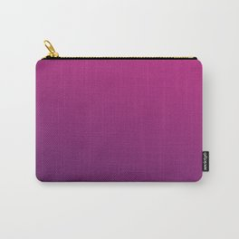 PURPLE HAZE - Minimal Plain Soft Mood Color Blend Prints Carry-All Pouch