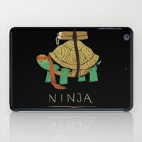 ninja turtle iPad Cases featuring ninja - orange by Louis Roskosch