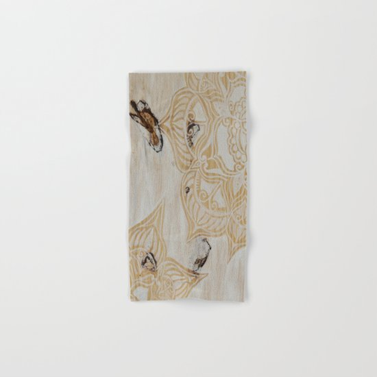 White Wash Mandala Hand & Bath Towel