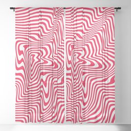 spiral hills, red Sheer Curtain