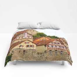 Traditional medieval German houses Comforters
