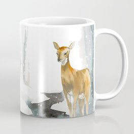 snowing forest Coffee Mug