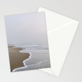 Ocean fog, waves, and beach - minimalist landscape photography  | Rehoboth Beach, DE Stationery Cards