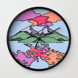 Two Volcanoes Wall Clock