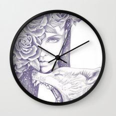 Night Of The Wolf Wall Clock