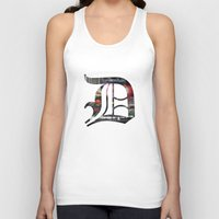 detroit Tank Tops featuring Detroit by Speed-Photos