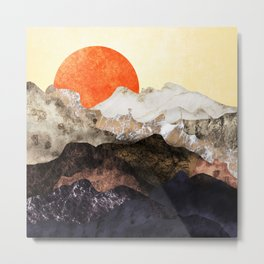 Marbled mountains by sunset Metal Print