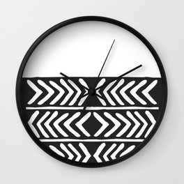 Tribal Print B&W- 04 Wall Clock