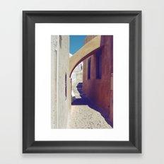 Santorini Walkway III Framed Art Print