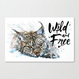 Lynx Wild and Free Canvas Print