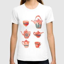 Teapot - orange T-shirt