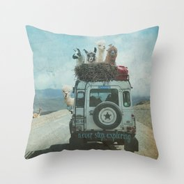 NEVER STOP EXPLORING II SUMMER EDITION Throw Pillow