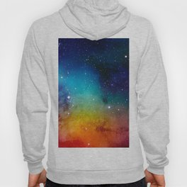 Colorful watercolor Galaxy Decoration Abstract Hoody