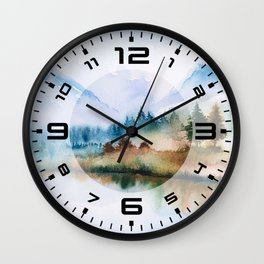 Winter scenery #16 Wall Clock