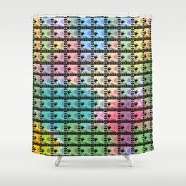 Retro movie pattern Shower Curtain