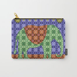 Colorful Tribal Elephant Carry-All Pouch