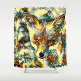 AnimalArt_Fox_20170601_by_JAMColorsSpecial Shower Curtain