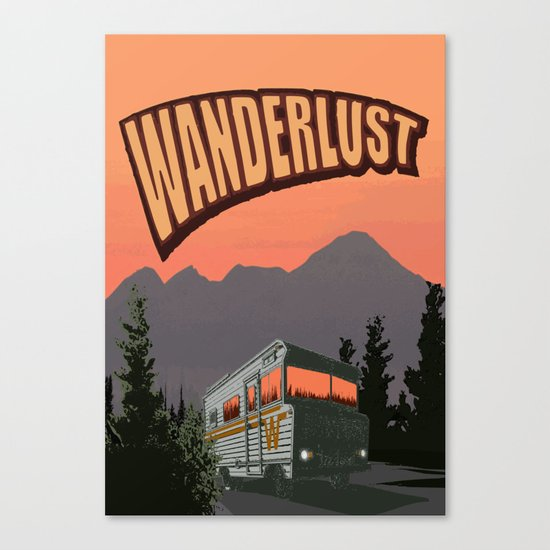 Wanderlust Travel Poster Canvas Print