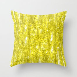 Subtle interweaving of sparkling smudges from gold lava and light chaotic cycle. Throw Pillow