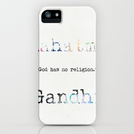 Mahatma Gandhi quote 2 iPhone Case