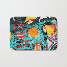 abstract colored chaos Bath Mat