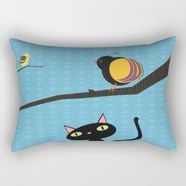 Blue Sky Birdwatching Rectangular Pillow