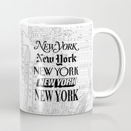 New York City black and white New York poster I love heart NYC Design black-white home wall decor Coffee Mug