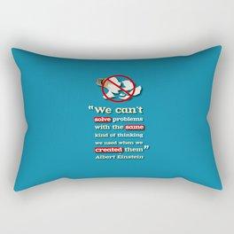 Einstein on Problem Solving Rectangular Pillow