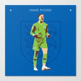 Jordan Pickford - Hand Picked Canvas Print