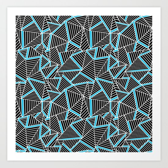 Ab 2 Repeat Blue Art Print