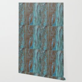 Patina Bronze rustic decor Wallpaper