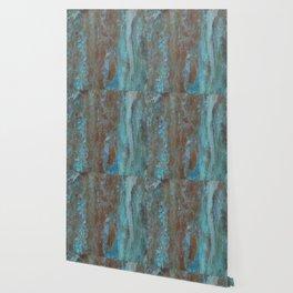 Patina Bronze rustic decor Wallpaper