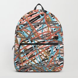 Two Shade Pink Blue Brown Scribble Backpack