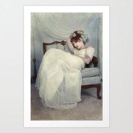 Sleeping Through the Dull Fete Art Print