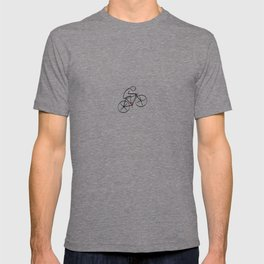 Stylized Bicyclist T-shirt