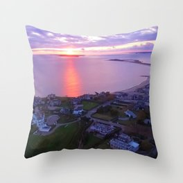 Napatree Point Sunset - Watch Hill - Westerly, Rhode Island Throw Pillow
