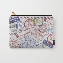 Vintage Postage Stamps grunge Design Carry-All Pouch