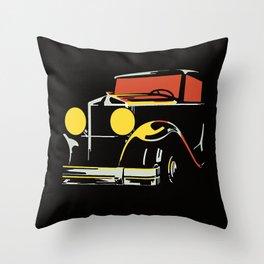 Vector art deco Brussels 1930s auto salon Throw Pillow