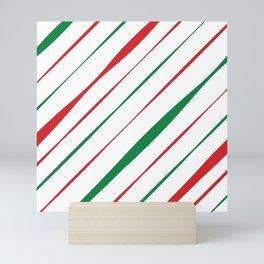 Christmas Stripes Mini Art Print