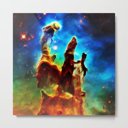 Pillars of Creation Metal Print